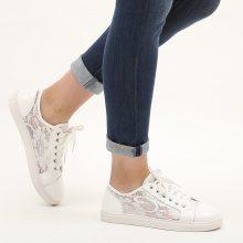 Sneakers con pizzo semitrasparente