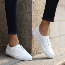 Sneakers con plateau in similpelle pastello