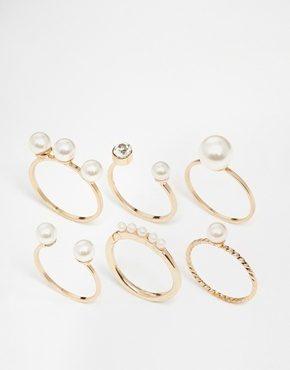 ALDO - Mchaffie - Confezione multipla di anelli oro