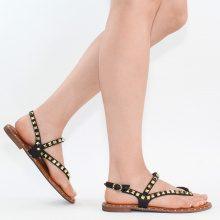 Sandali infradito con rivetti metallizzati