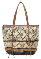 RAFIA ZIGZAG - Shopping bag - nude