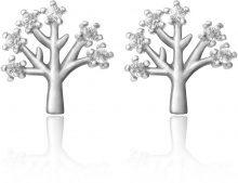 Orecchini a perno a forma di albero in argento 925