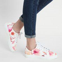 Sneakers con parti a fiori