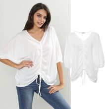 T-shirt oversize con coulisse
