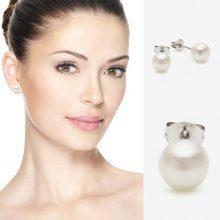 Orecchini di perle d'acqua dolce in argento 925