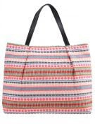 BASILLE - Shopping bag - nutmeg/white