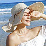 iShine Donne Moda Estate Spiaggia Bowknot Cappello da Sole Arricciare Cappello di Paglia