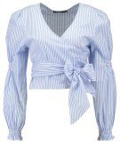 Missguided STRIPE TIE SIDE  Camicetta blue/white