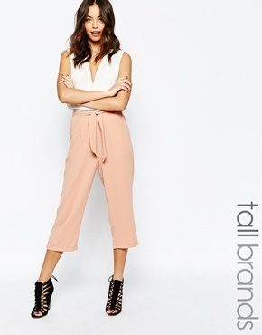 New Look Tall - Gonna pantalone in crêpe con cintura annodata in vita
