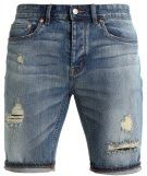 RIPPED - Shorts di jeans - mid blue