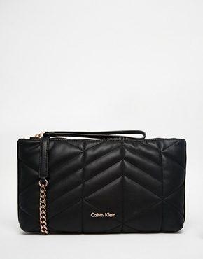 Calvin Klein - Pochette trapuntata con tracolla removibile