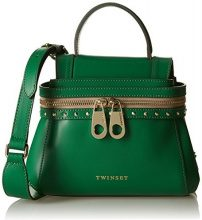 Twin Set As7pw4, Borsa a Tracolla Donna, Verde (Grass Green), 10 x 18 x 23 cm (W x H x L)