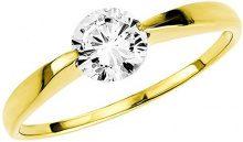 Amor - Anello in oro giallo con zirconia, donna, bianco, 18