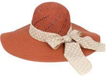 Cappello di paglia con fiocco a pois