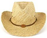 Brand uomo cappello da cowboy Natural straw Top