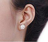CS PRIORITY gioielli orecchini a lobo a forma di fiore di alta qualità Cherry Blossom Orecchini Argento placcato regalo perfetto per donna