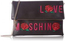 Love Moschino Borsa Calf Pu Nero - Borse a spalla Donna, Schwarz (Black), 18x24x1 cm (L x H D)