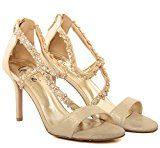Unze Le nuove donne Ladies 'Gigi' Diamante ha abbellito Peep Toe alto tacco medio da sera, da sposa, partito di promenade scarpe Dimensioni 3-8