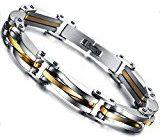 Flongo Bracciale uomo in acciaio nuovo disegno catena argento oro intervallo stile