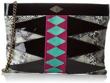 MohekannXl Navajo - Pochette Donna , nero (Noir (Hypnotic)), 8x25x35 cm (W x H x L)