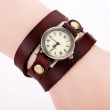 Orologio da polso a bracciale in pelle vintage
