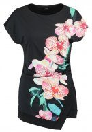 DOTTY ORCHID - T-shirt con stampa - black