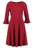 SPOT FLUTE SLEEVE - Vestito di maglina - red