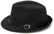 Cappello di paglia Trilby con fibbia