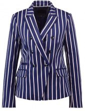 Banana Republic VERTICAL STRIPED CUTAWAY  Blazer bold blue stripe