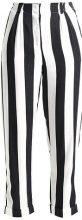 Topshop HUMBUG STRIPE MENSY Pantaloni monochrome