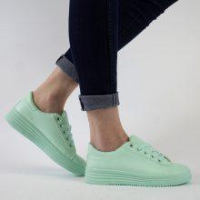 Sneakers basic a tinta unita