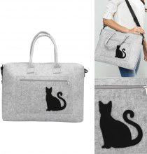 Borsa per portatile con dettagli a gatto