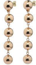 Orecchini con filo di perle sintetiche