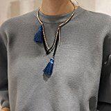 Avant Garde nappe Timando-Collana girocollo, colore: blu reale