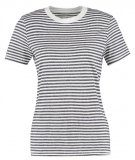 Selected Femme SFMY PERFECT SS TEE BOX CUTSTRI. NOOS Tshirt con stampa peacoat