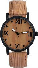 Orologio in legno con cinturino in pelle