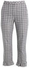 Topshop CHECK MERMAID  Pantaloni monochrome