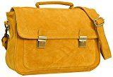 "Gusti Leder studio ''Matilda'' borsa a tracolla da donna tablet 12,1"" città lavoro shopper vintage giallo 2H35-26-10"