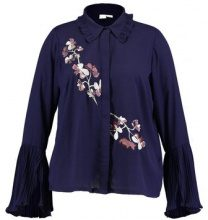 Lost Ink Plus WITH EMBROIDERY Camicia navy