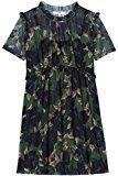 FIND Chiffon Ruffle  Vestito Donna, Multicolore (Black Mix), 44 (Taglia Produttore: Medium)
