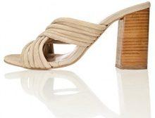 FIND Sandalo Scamosciato Donna con Fascette Incrociate