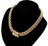 Oro, chiusura magnetica, largo-Collana girocollo da donna