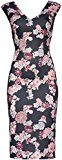 FIND Floral Bodycon  Gonna Donna, Nero (Black Mix), 42 (Taglia Produttore: Small)