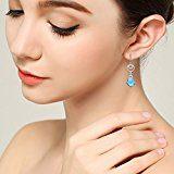 Clearine Orecchini Donna- 925 Argento CZ Barocco Doppio Cerchio Gancio ciondola gli orecchini decorato con Cristalli da Swarovski