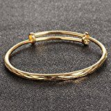 OPK - Braccialetto da donna in oro con motivo a scaglie di pesce, regalo di nozze