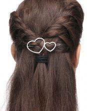 Fermaglio per capelli a cuore doppio
