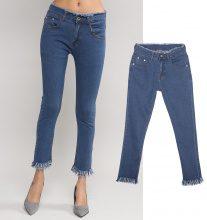 Jeans skinny con fondogamba sfrangiato
