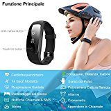 Fitness Tracker, Willful Activity Tracker Cardio Impermeabile IP67 Cardiofrequenzimetro da Polso Smartband Pedometro Orologio Braccialetto Fitness Watch Band per iPhone Android iOS per Donna Uomo Bambini Nuoto ( 14 Sport Modalit¨¤, Meteor, Respirazione Guidata, Cronometro, Appendere le Chiamate, Sveglia )