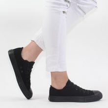 Sneakers in tessuto con punta in gomma