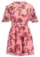 Missguided FLORAL BASE TEA WITH TIE BACK NECK  Vestito estivo light pink